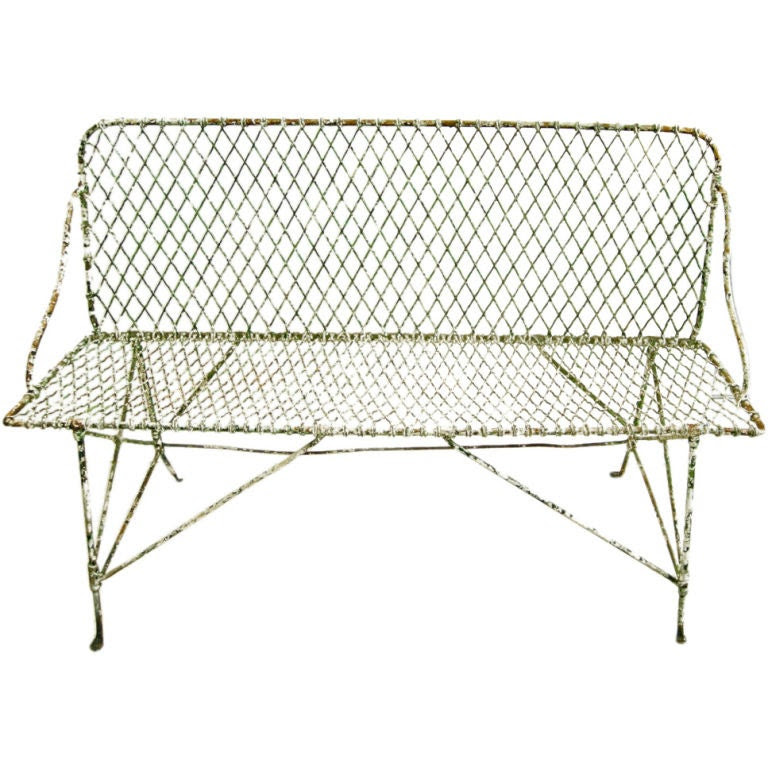Charming French Wire Bench