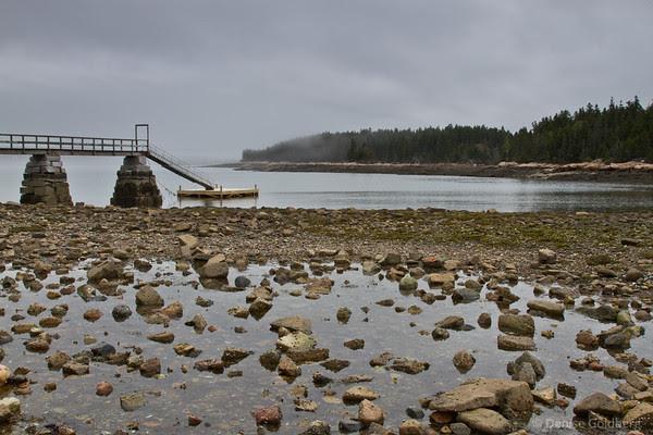 schoodic peninsula, acadia national park, pier
