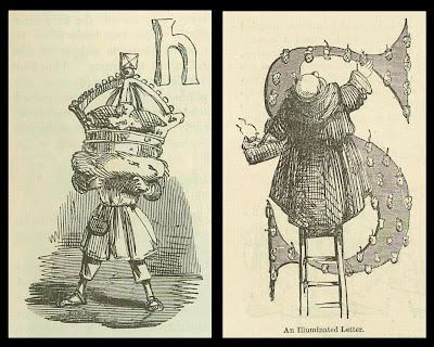 2 satirical lettrines