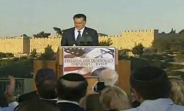 Mitt Romney gives foreign policy speech in J'lem