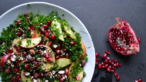 7 - Winter Kale Salad with Pomegranate2
