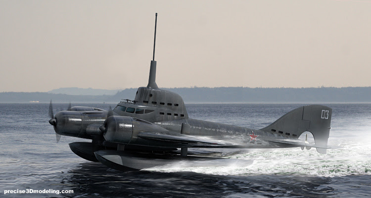 Kehebatan kapal selam terbang buatan Soviet !