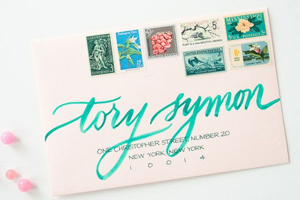 Mixing Vintage Postage with your modern invites