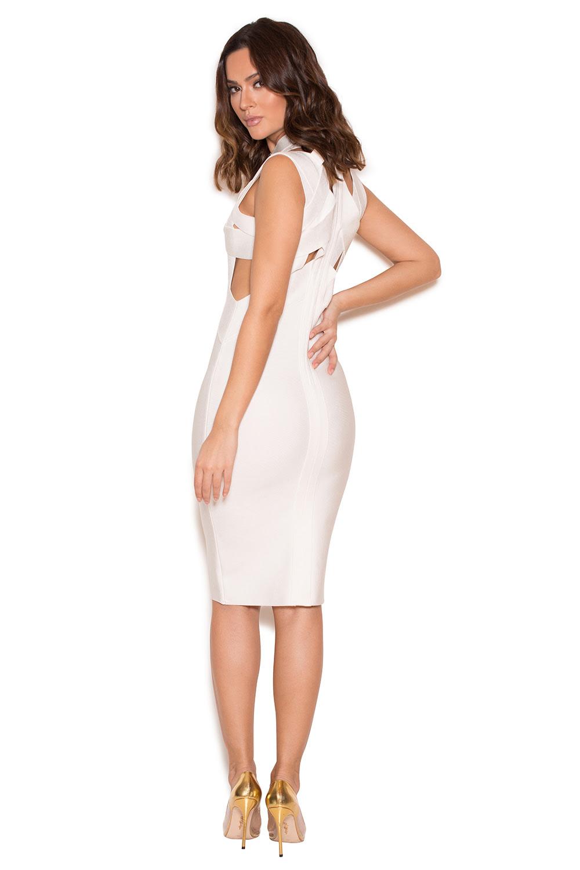 Plain white bodycon dress
