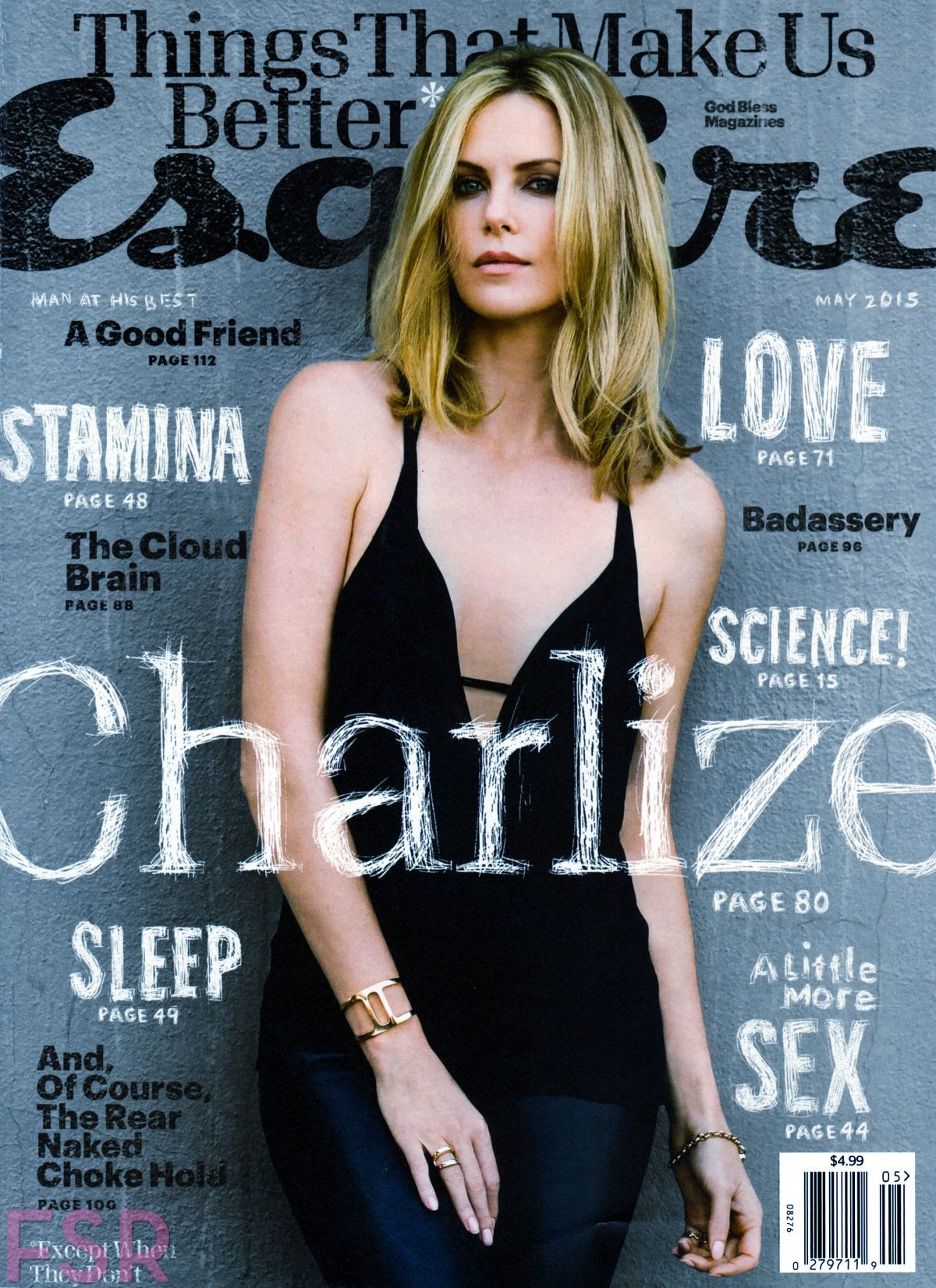 CHARLIZE THERON in Esquire Magazine, May 2015 Issue