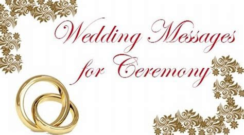Wedding Messages for Ceremony, Wishes for Marriage Ceremony