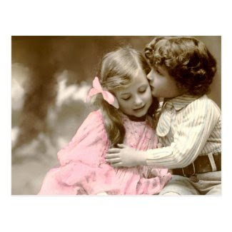 Adorable little Girl and Boy Postcard