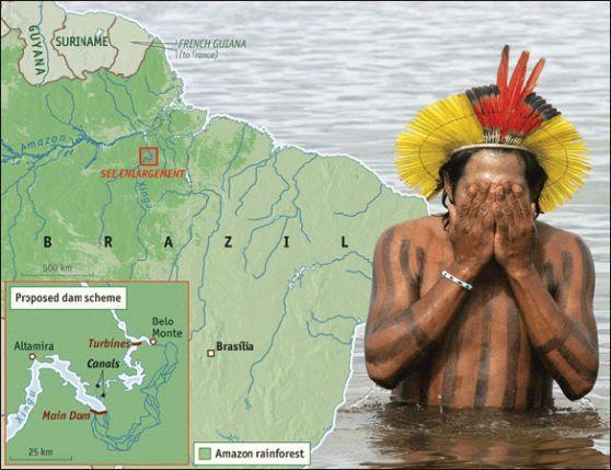 desalojo del Amazonas, presa hidráulica, represa amazonia