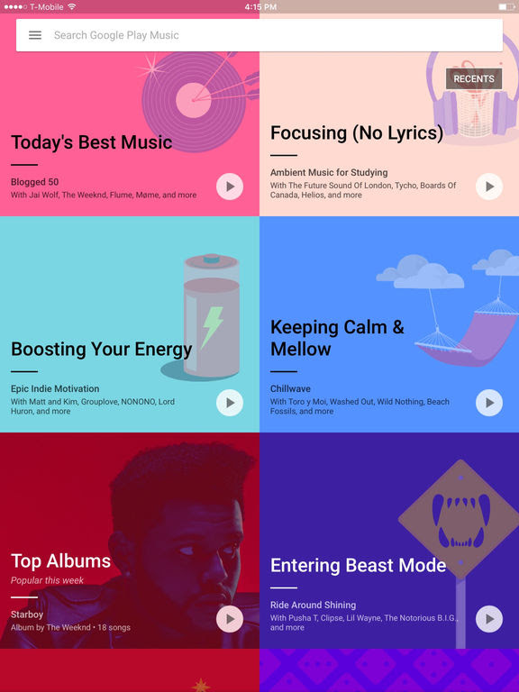Google Play Music si aggiorna alla vers 3.32.1004