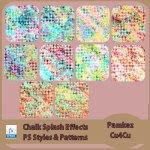 Chalk Splash Effect PS Styles & Patterns