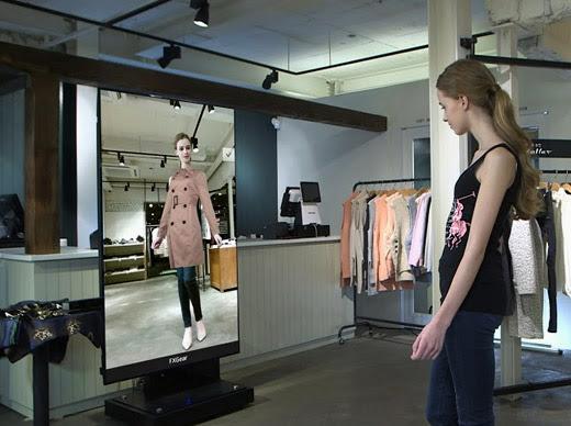 Futuristic dressing room - innovative retail and marketing solution