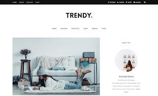 Trendy Beauty Blogger Template
