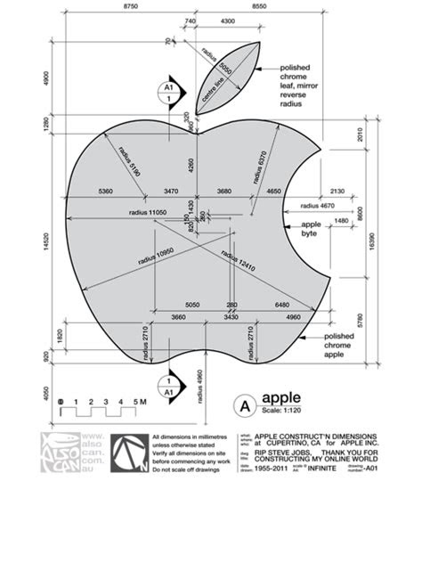 Apple logo dimensions | Logos design, Apple logo design