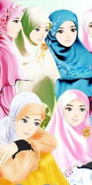 kartun muslimah sticker  muslim anime