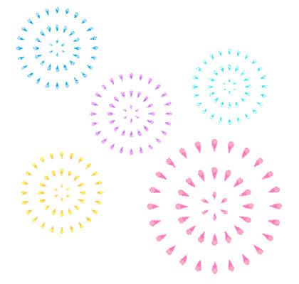 花火大会 打ち上げ花火や線香花火手持ち花火などを題材にしたフリー