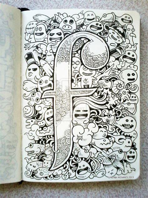 gambar doodle art gambar aneh unik lucu
