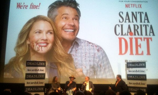 Drew Barrymore, Timothy Olyphant and series creator Victor Fresco do a Q&A panel for SANTA CLARITA DIET in west Los Angeles...on June 14, 2018.