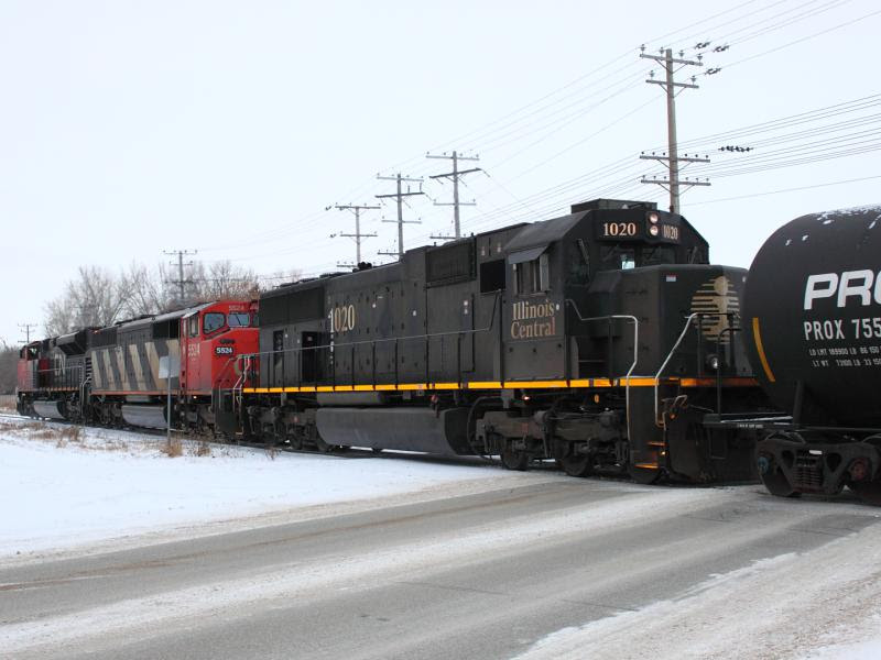 Illinois Central IC 1020 in Winnipeg