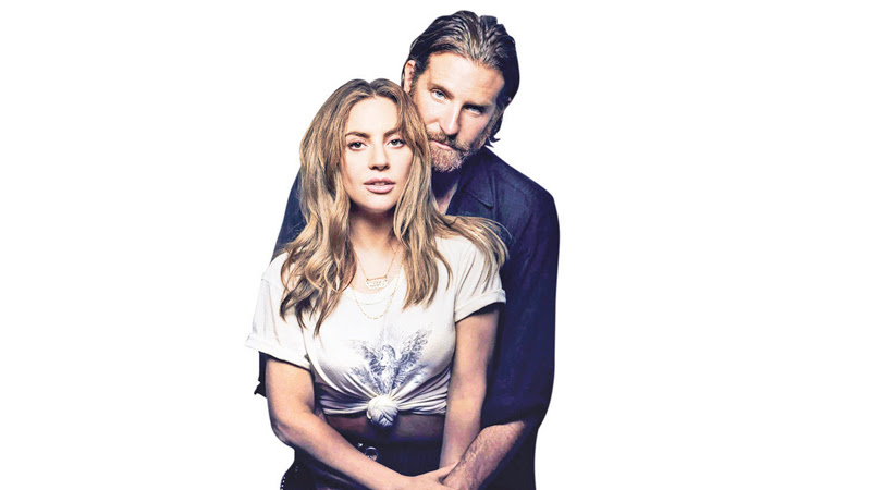 Lady Gaga as Ally and director Bradley Cooper as Jackson Maine in 'A Star is Born'