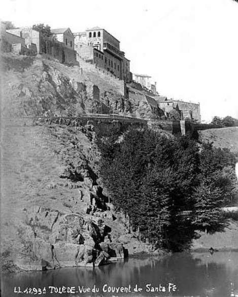 Convento de Santa Fe hacia 1880. Fotografía de Levy