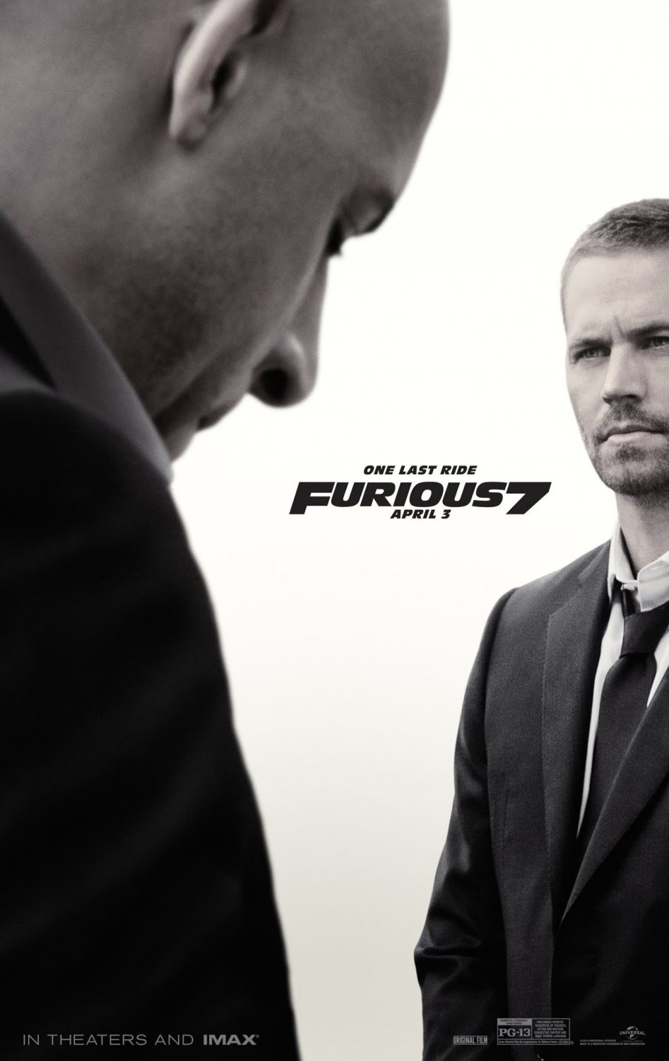 """Furious 7 """"One Last Ride"""" poster - click to see more"""