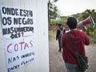 Alunos da USP realizam ato a favor do sistema de cotas em frente à reitoria da universidade, em setembro de 2012 (Foto: Marcelo Camargo/ABr)