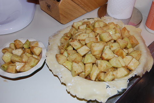 Apple pie before