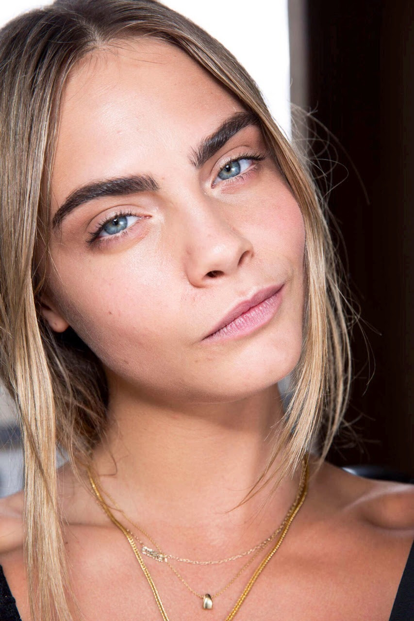 Cara Delevingne backstage at Stella McCartney Fall/Winter 2014/2015