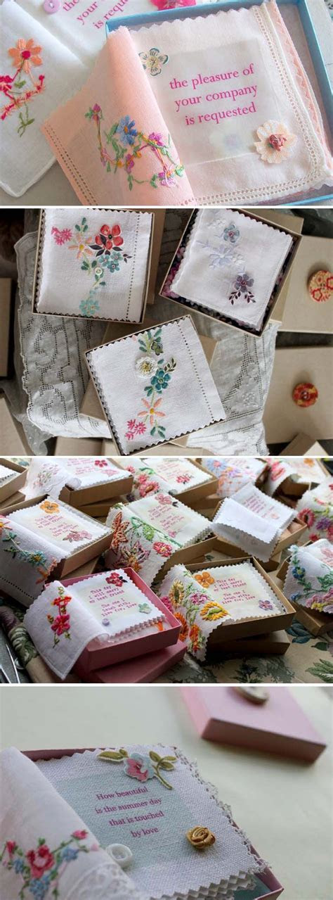 check out these totally unique wedding invitations! hankie