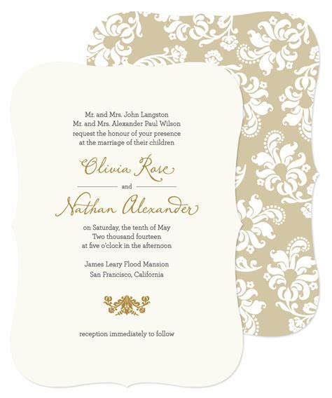 Lovable Wedding Card Invitation Sample Wedding Invitations