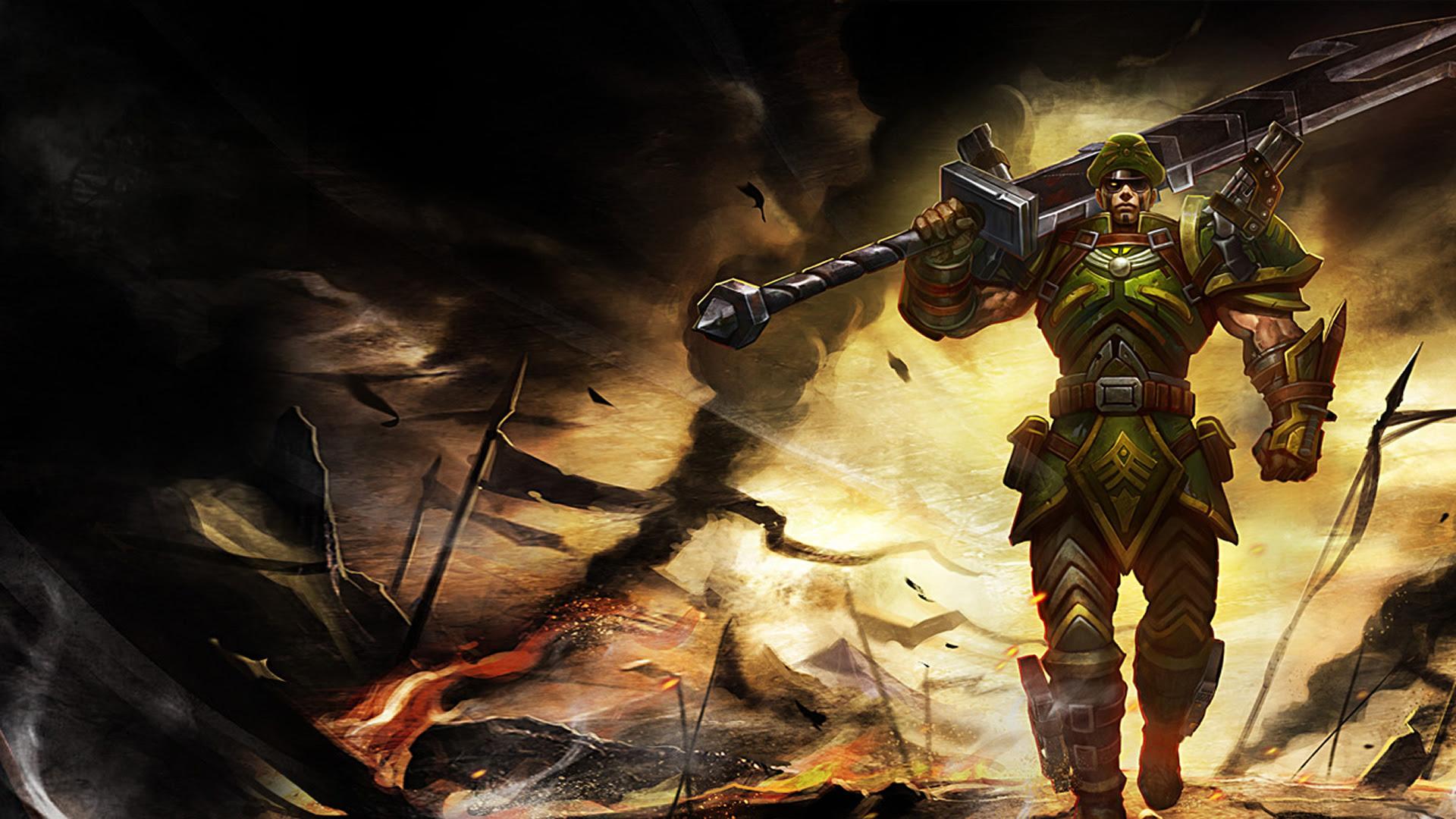 Commando Jarvan Chinese Wallpaper Leaguesplash