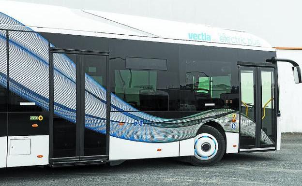 Nueva generación. Vectia enviará a Irun cuatro autobuses de su línea de vehículos eléctricos Veris./