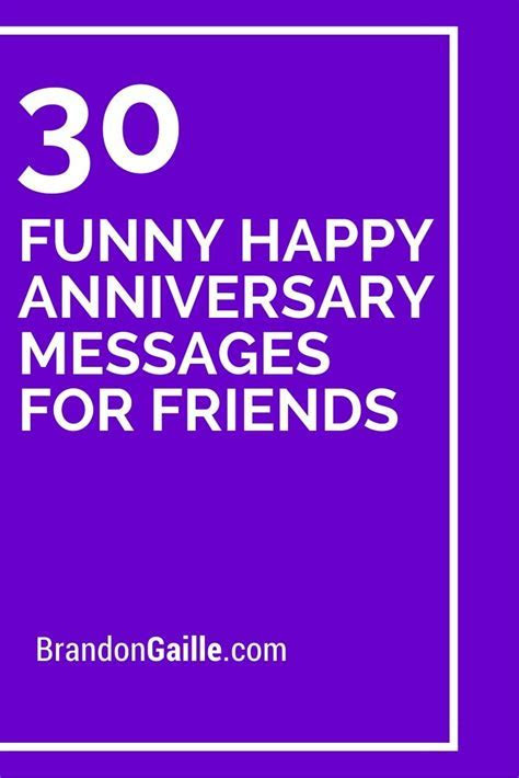 31 Funny Happy Anniversary Messages for Friends   Messages