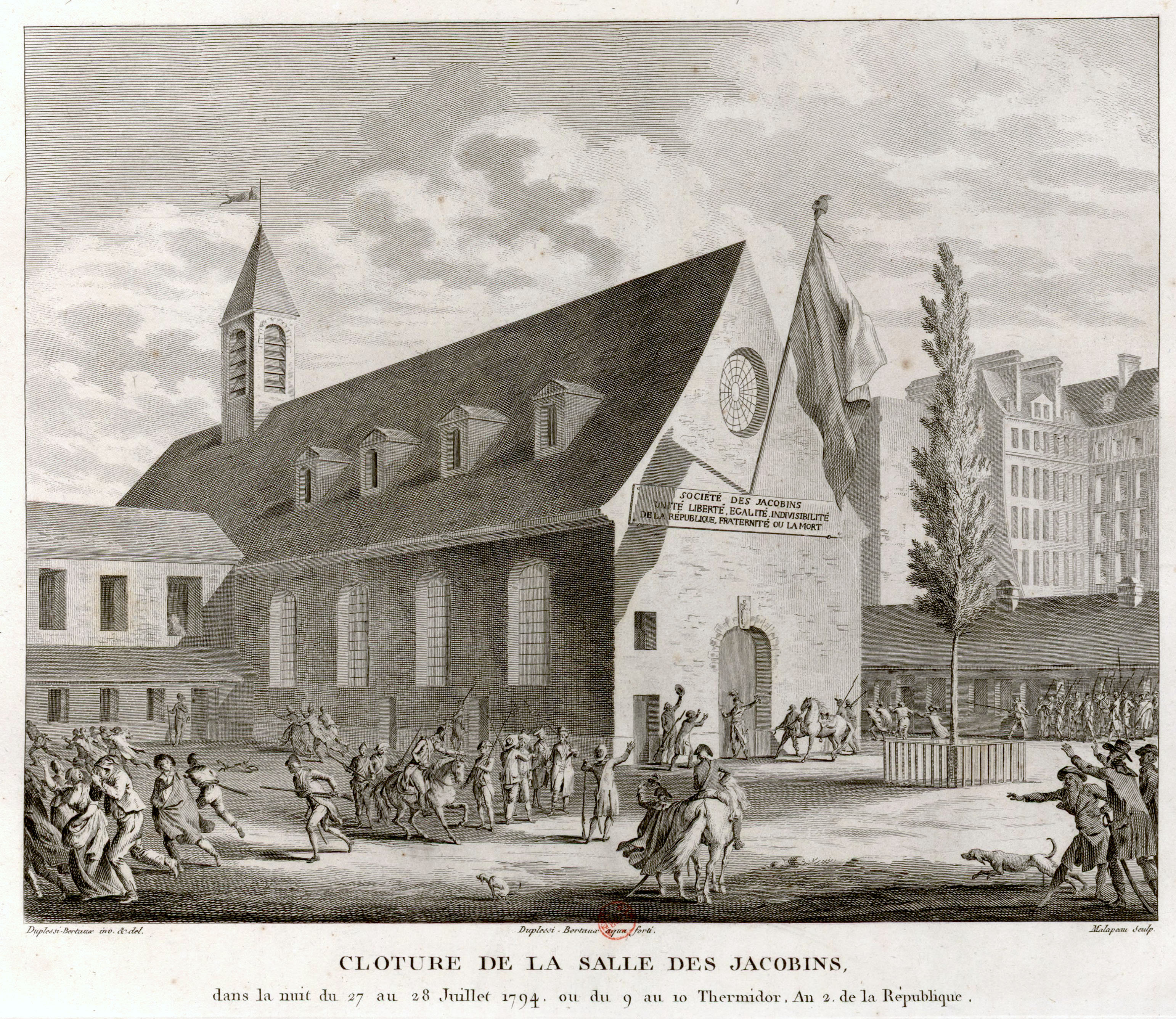 Claude Nicolas Malapeau: Closing of the Jacobin Club, during the night of 27-28 July 1794, or 9-10 Thermidor, year 2 of the Republic