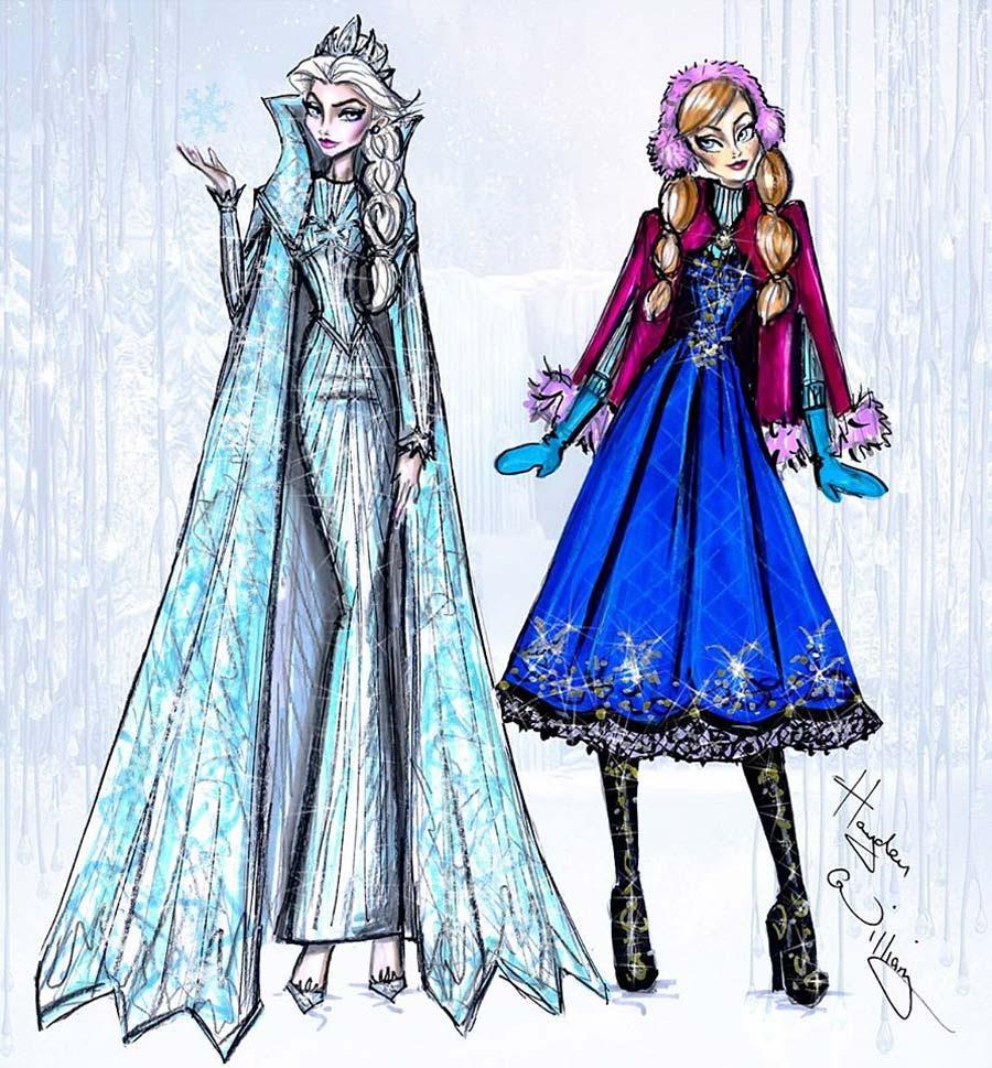 disney-ilustracoes-inverno-annaeelsa