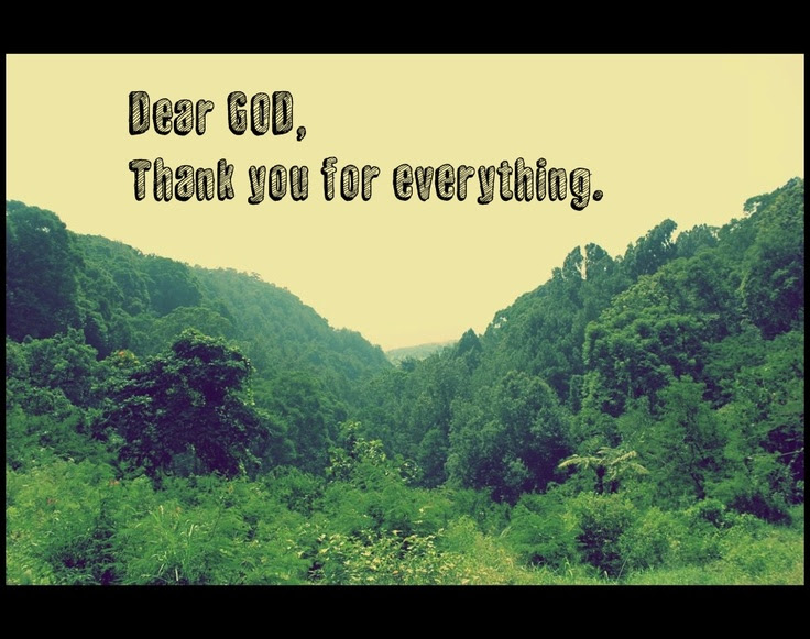 Dear God Thank You For Everything Quotes