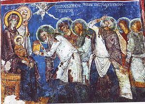The magi. Fresco in Cappadocia