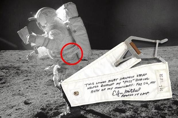 Edgar Mitchell caminando en la Luna, Apollo 14, 1971.