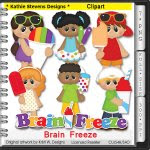 Brain Freeze Clipart - CU