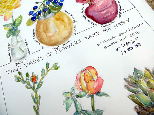 from my sketchbook ~ flower vases