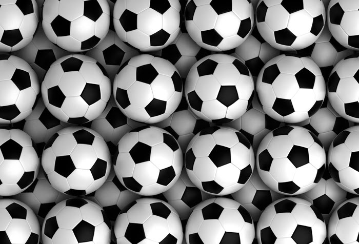 Shop Background With Soccer Balls Wallpaper In Sports Theme