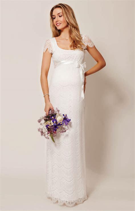 Flutter Maternity Dress Long (Ivory)   Maternity Wedding