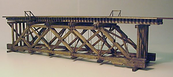 A model of a bridge