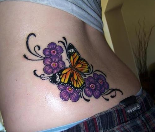 45 Sensuales Tatuajes De Mariposas Para Mujeres
