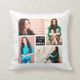 Photo Collage Graduate Throw Pillow