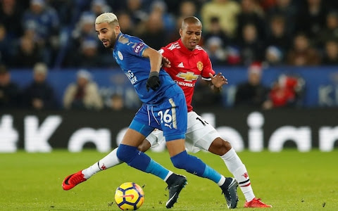 Riyad Mahrez in action at the King Power Stadium