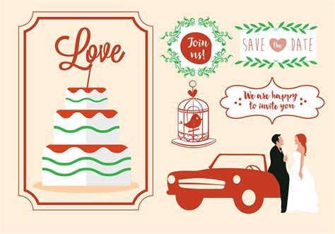 Free Vector Wedding Card Design   Download Free Vector Art
