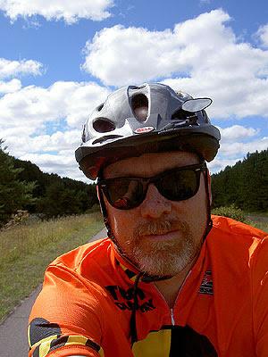Matt on Munger Trail near Willow River