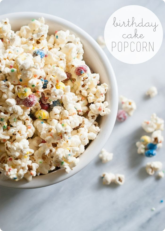 birthday cake popcorn ... made with birthday cake m&ms