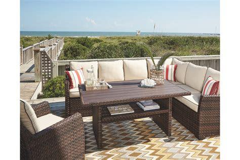 salceda  piece outdoor sectional set  ashley furniture
